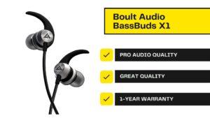 Best earphones under 1000 Rs - Boult audio bass buds x1